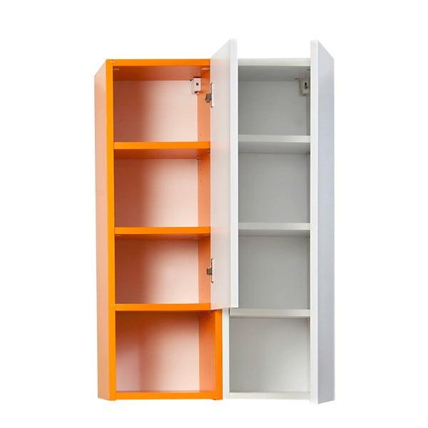 Półka wisząca Grand, biała/pomarańczowa