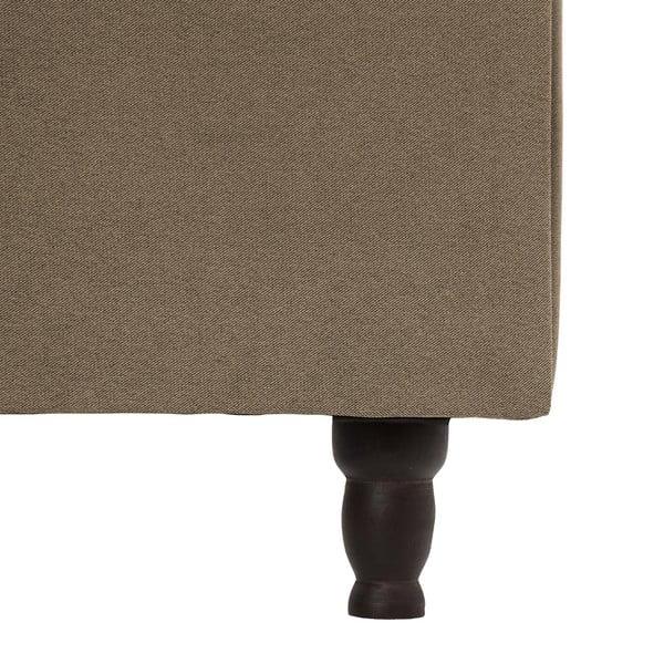 Brązowe łóżko z czarnymi nóżkami Vivonita Allon, 160x200 cm