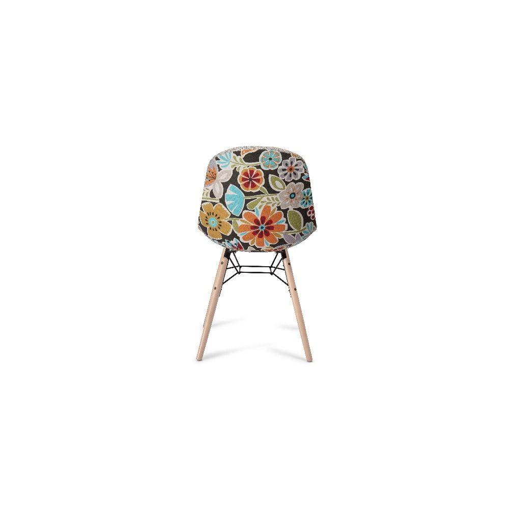 Beżowa krzesło z nogami z drewna bukowego Furnhouse Sun