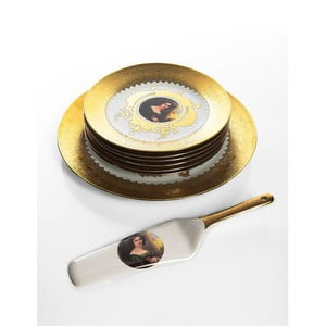 Porcelanowy zestaw do podawania deserów Cihan Bilisim Tekstil