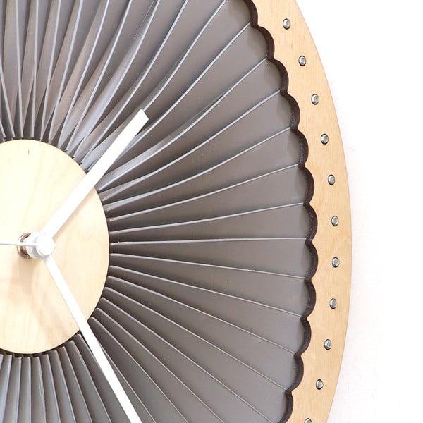 Zegar drewniany Turbine, 41 cm