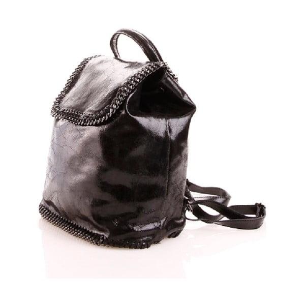 Plecaczek skórzany Emily, czarny