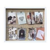 Tablica na 8 zdjęć z klipsami Freely, biała
