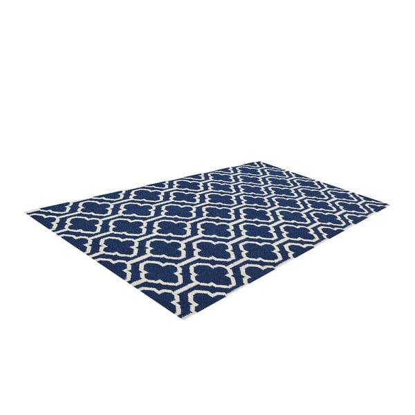 Dywan wełniany Penelope Blue, 140x200 cm