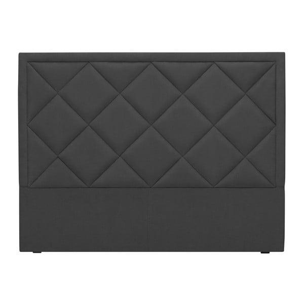 Ciemnoszary zagłówek łóżka Windsor & Co Sofas Superb, 160x120 cm