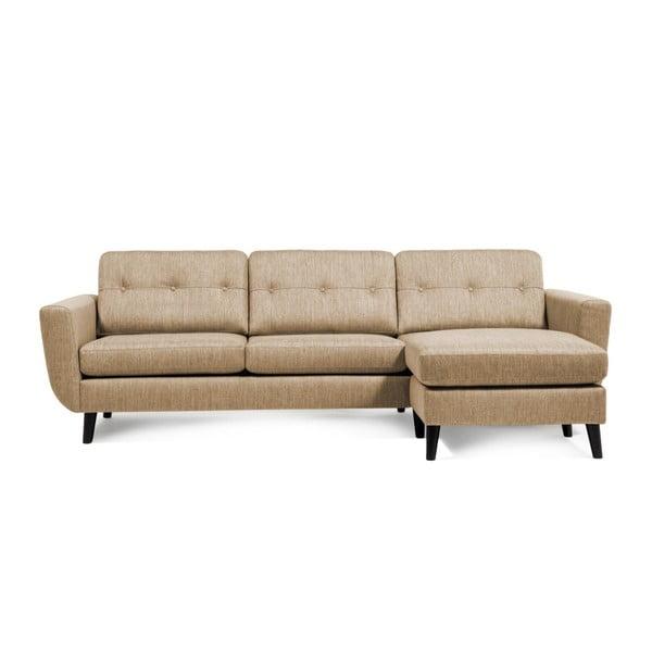 Beżowa sofa z szezlongiem po prawej stronie Vivonita Harlem