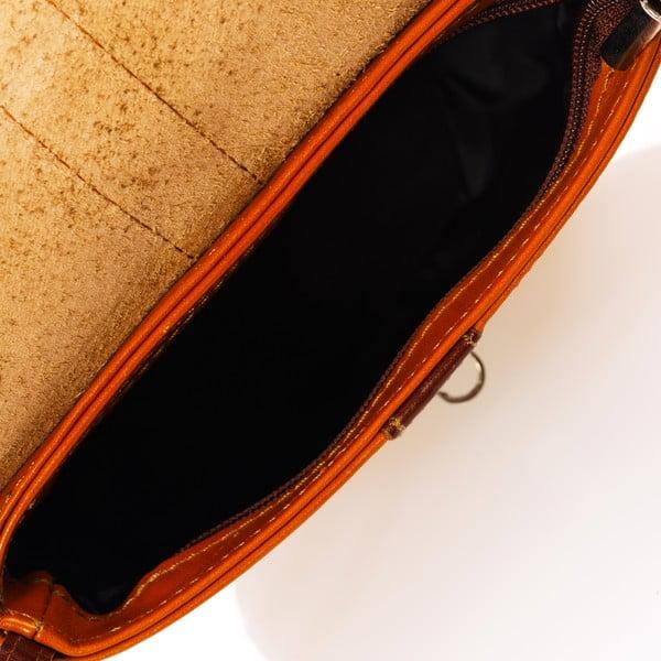 Koniakowo-brązowa torebka skórzana Federica Bass Major