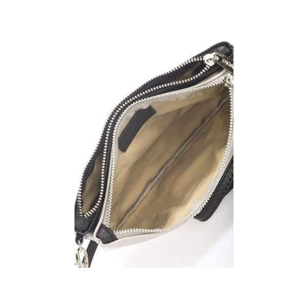 Skórzana torebka Krole Kody z 2 kieszonkami, szara