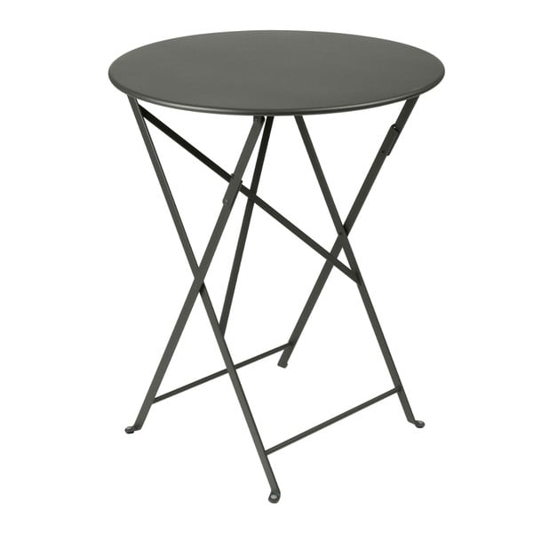 Szary składany stół metalowy Fermob Bistro