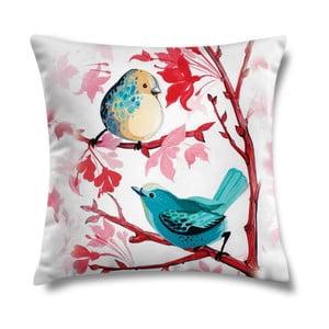 Poduszka Blue Birds, 43x43 cm
