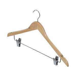 Drewniany wieszak uniwersalny na odzież i spodnie Domopak