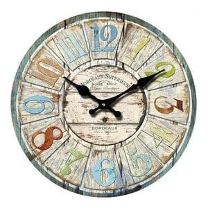 Szklany zegar Bordeaux, 38 cm