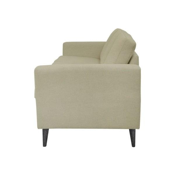 Ciemnobeżowa sofa 3-osobowa z czarnymi nogami Helga Interiors Alex