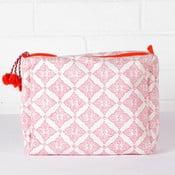 Ręcznie drukowana kosmetyczka Tile Hot Pink