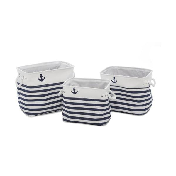 Komplet 3 pojemników bawełnianych Artesania Esteban Ferrer Nautical