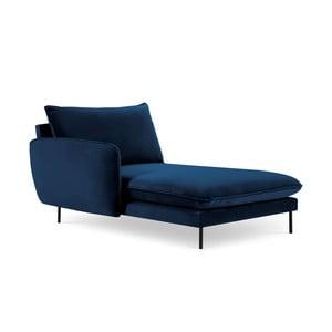Modrá lenoška s područkou na pravé straně Cosmopolitan Design Vienna