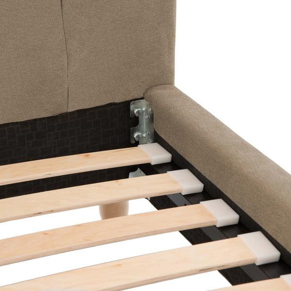 Brązowe łóżko z naturalnymi nóżkami Vivonita Allon, 180x200 cm