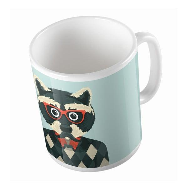 Ceramiczny kubek Grandpa Wolf, 330 ml