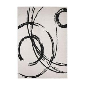 Czarno-biały dywan Calista Rugs Madrid, 135x190 cm