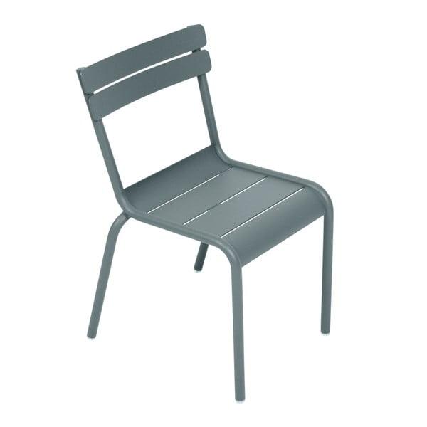 Ciemnoszare krzesło dziecięce Fermob Luxembourg
