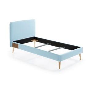Jasnoniebieskie łóżko 1-osobowe La Forma Lydia, 190x90cm