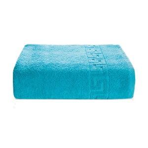 Niebieski ręcznik kąpielowy z bawełny Kate Louise Pauline, 70x140 cm