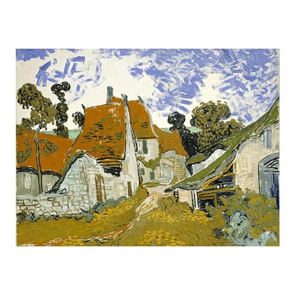 Obraz Vincenta van Gogha - Street in Auvers sur Oise, 60x80 cm