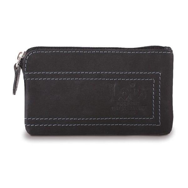 Skórzany portfel Lois Black, 11x7 cm