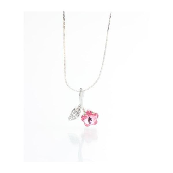 Naszyjnik Swarovski Flower Rosa, 45 cm