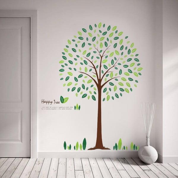 Naklejka ścienna Drzewo i liście, 60x90 cm