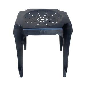 Metalowy stołek retro Gion, czarny