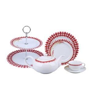 Komplet porcelany Czerwień, 24 szt.