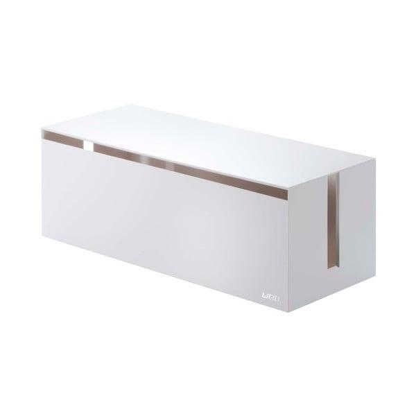 Białe pudełko na ładowarki Yamazaki Web Cable Box