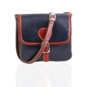 Skórzana torebka Campagna, blu/brown