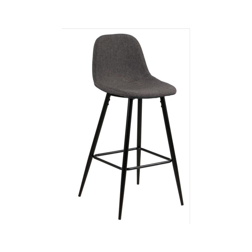 Komplet 2 ciemnoszarych krzeseł Actona Wilma