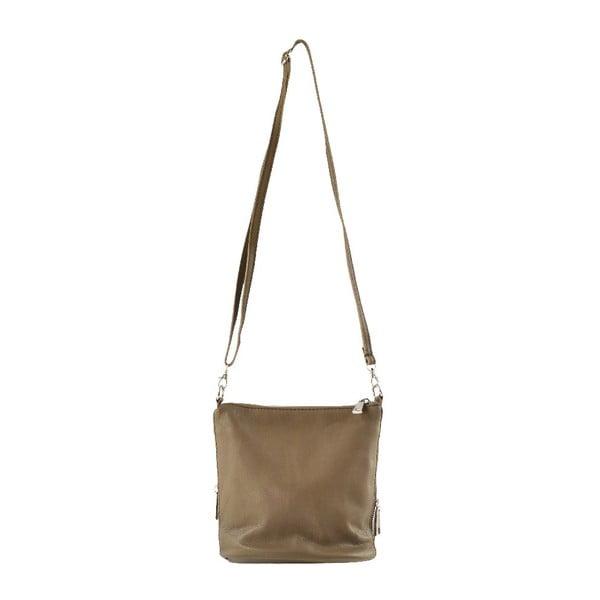 Skórzana torebka przez ramię Jeunnie, taupe