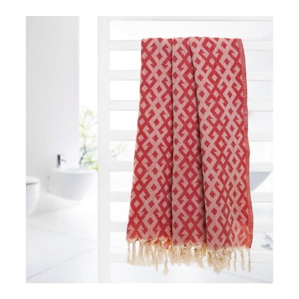 Ręcznik hammam Orient Red, 95x175 cm