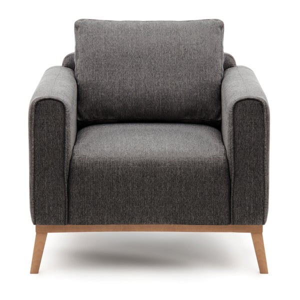 Antracytowy fotel Vivonita Milton