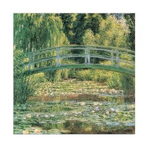 Obraz Claude Monet - Japoński mostek, 70x70 cm