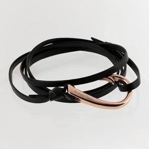 Skórzana bransoletka z czarnym paskiem Andreas Östen Bracelet