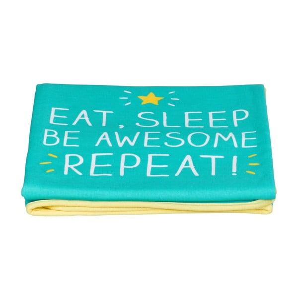 Koc dziecięcy Happy Jackson Eat, Sleep And Be Awesome