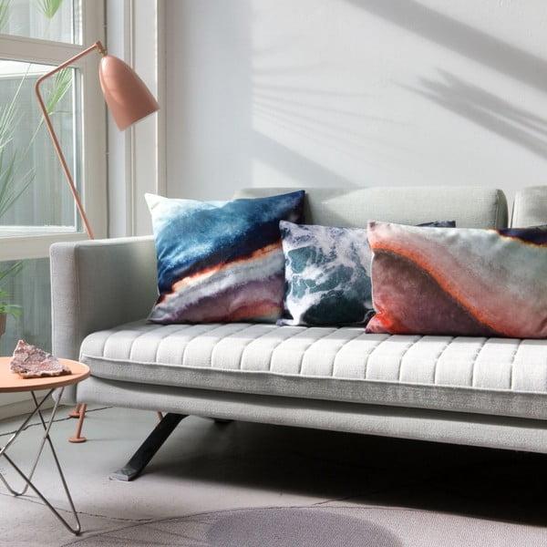 Poszewka na poduszkę Snurk Mineral Blue, 50x50 cm