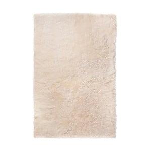 Biały dywan futrzany z krótkim włosiem, 100x60 cm