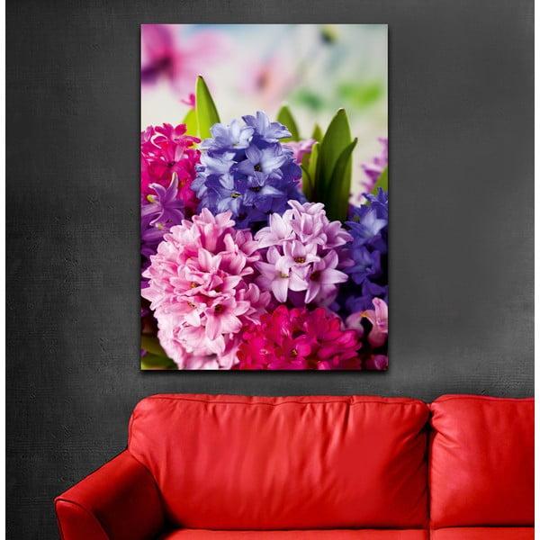 Obraz Róż i fiolet, 70x100 cm