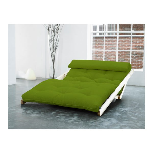 Szezlong Karup Figo, Raw/Lime, 120 cm