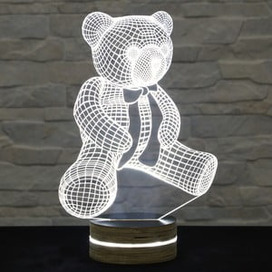 Lampa 3D stołowa Ted