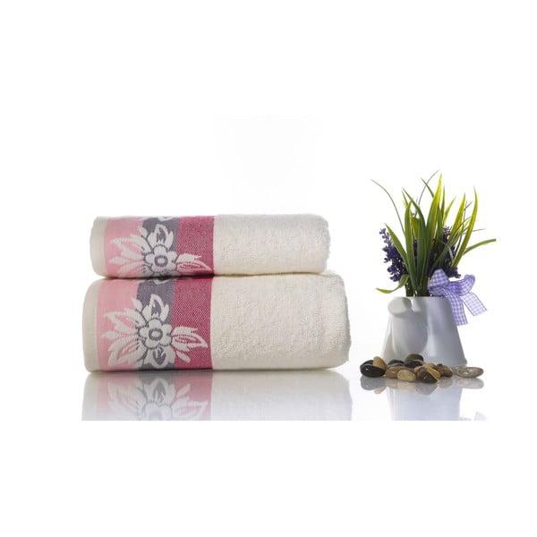 Zestaw 2 ręczników Papyrus V1, 50x90 cm + 70x140 cm