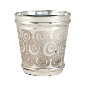 Świecznik Circle Silver, 15x15x13 cm