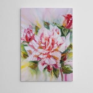"""Obraz na płótnie """"Różowy kwiat"""", 50x70 cm"""