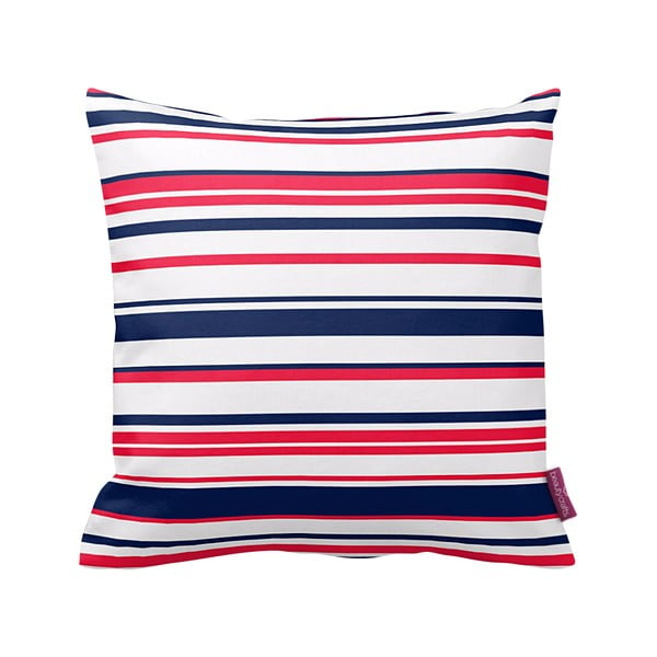 Poduszka Red and Navy Stripes, 43x43 cm